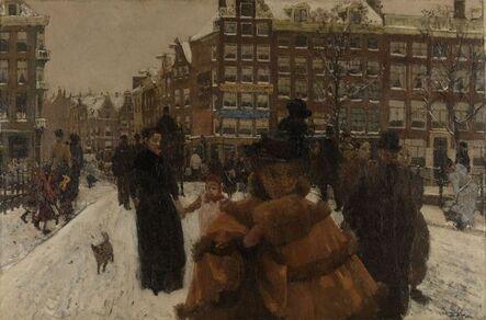 George Hendrik Breitner, 'The Singel Bridge at the Paleisstraat in Amsterdam', 1896-1898