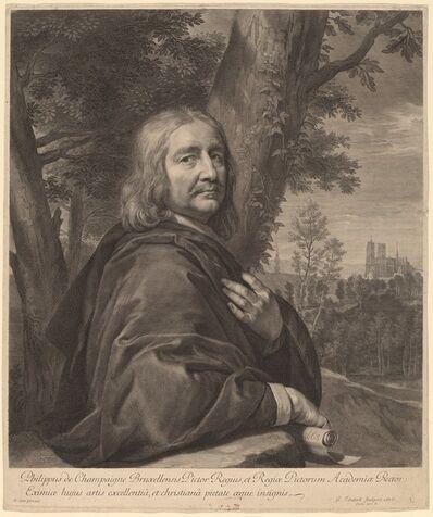 Gerard Edelinck after Philippe de Champaigne, 'Philippe de Champaigne', 1676