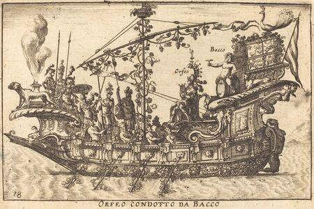 Balthasar Moncornet after Remigio Cantagallina, 'Orfeo condotto da Bacco'