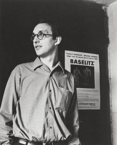 Elke Baselitz, 'Georg Baselitz in his atelier, Berlin', 1966