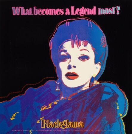 Andy Warhol, 'Blackglama (Judy Garland), from the Ads portfolio', 1985
