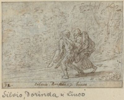 Johann Wilhelm Baur, 'Silvio, Dorinda and Linco', 1640