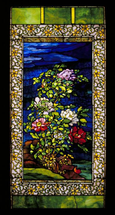John La Farge, 'Window: Peonies in the Wind', ca. 1893