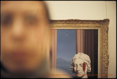 Carlos Gallardo, 'Pixel Terror, Autorretrato con Magritte', 1982