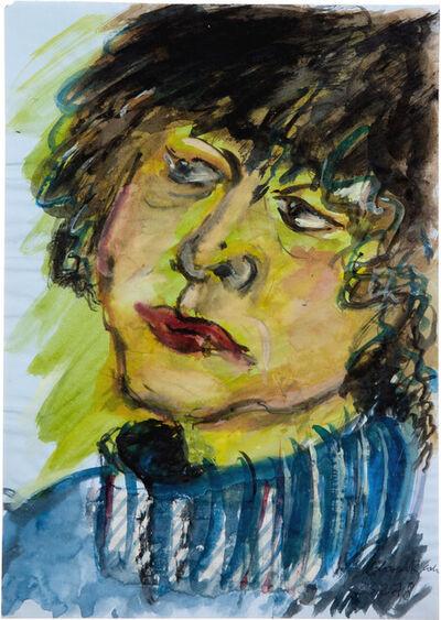 Elvira Bach, 'Selbstportrait', 23.02.1978