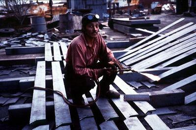 Allan Sekula, 'Shipyard welder, Ensenada', 1996