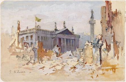 Edmond Delrenne, 'Sackville Street in Ruins', 1916