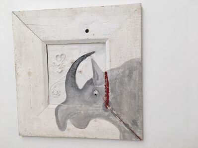 Heinz Frank, 'DAS NASHORN DAHINTER IST DER UNTERSCHIED', 1989