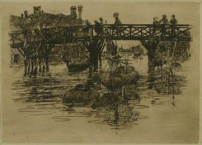 Frank Duveneck, 'Fishing Nets, Venice', 1883