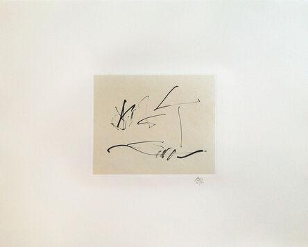 Robert Motherwell, 'Octavio Paz Suite: Wind', 1988