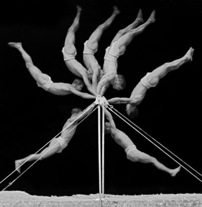 Georges Demeny, 'Chronophotograph of an Exercise on the Horizontal Bar', 1906