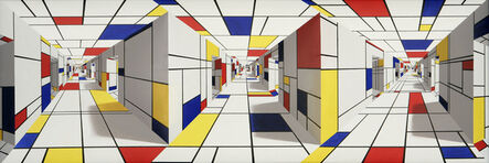 Patrick Hughes, 'All-out Mondrian', 2005