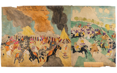 Henry Darger, 'At Wickey Lansina, escape with their brother... / 81 At Jennie Richee Breaking jail second time', c. 1930, 40 / c. 1940, 1950