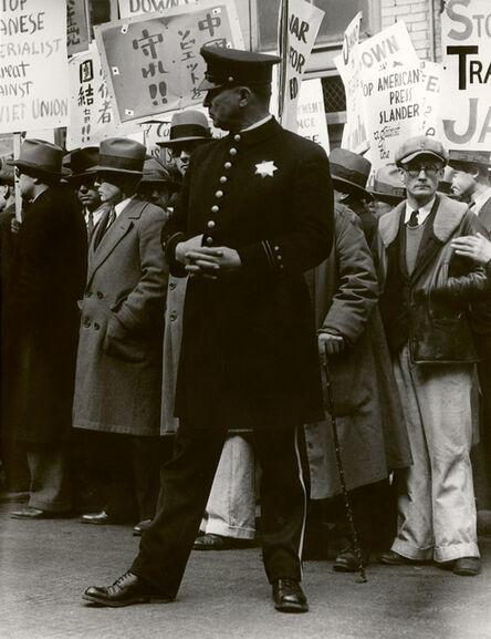 Dorothea Lange, 'Street Demonstration, San Francisco', 1933