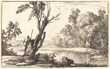 Laurent de La Hyre, 'A Man Gazing across a Still Pond', 1640
