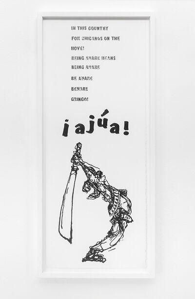 Andrea Bowers, 'Beware Gringo (La Raza, Vol. I, No. 14, July 1968, L.A. pg. 2)', 2015