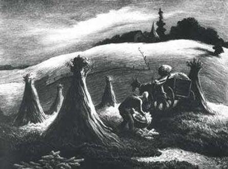 Thomas Hart Benton, 'Loading Corn', 1945