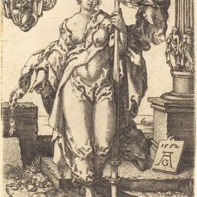 Heinrich Aldegrever, 'Chastity', 1552