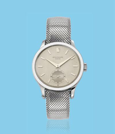 Patek Philippe, 'Stainless steel Calatrava wristwatch, ref. 570', ca. 1950