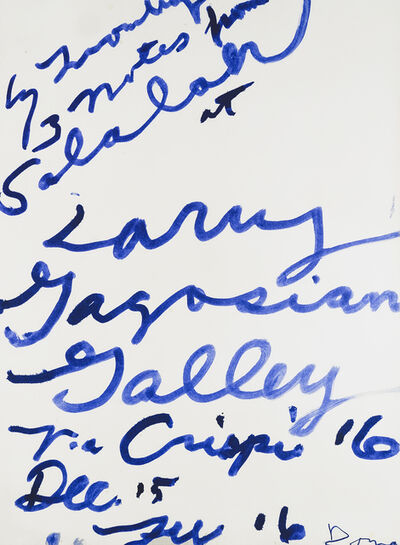 Cy Twombly, 'Three Notes from Salalah Poster', 2008