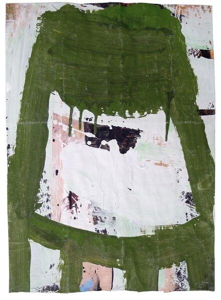 Gary Komarin, 'Small Stacked Cake (Olive on Cream)'