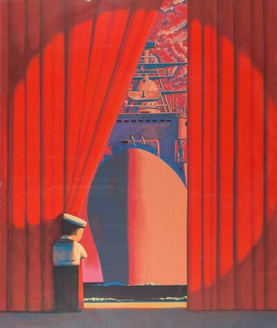 Liu Ye 刘野, 'Big Flagship (Red/Little Navy)', 2009