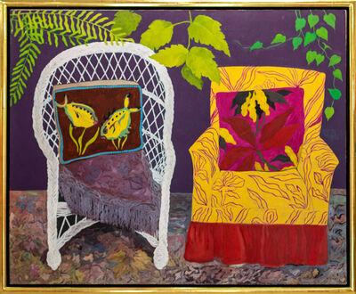 Hunt Slonem, 'Chair Duet', 1977