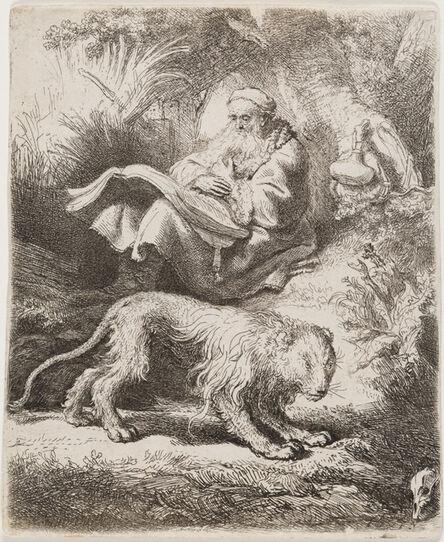 Rembrandt van Rijn, 'Saint Jerome Reading', 1634