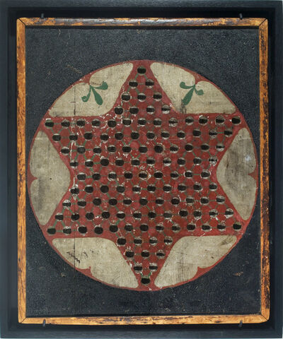 Unknown Artist, 'Chinese Checkers Game Board', ca. 19