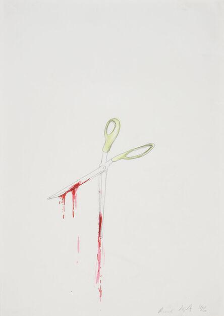 Ragnar Kjartansson, 'Untitled (bad drawing of scissors with blood)', 2006