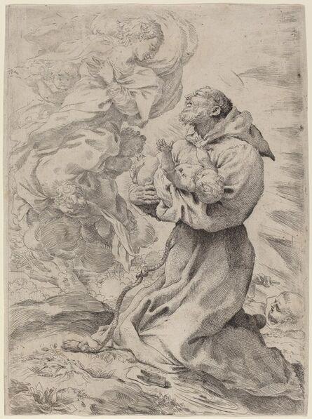 Pietro Faccini, 'Saint Francis with the Christ Child'