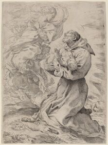 Pietro Faccini, 'Saint Francis with the Christ Child'