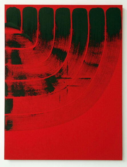 Steel Stillman, 'Curtain Brun Fond Rouge', 2015