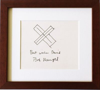 Robert Mangold (b.1937), 'Minimalist ink drawing. Hand signed and inscribed.', ca. 1980