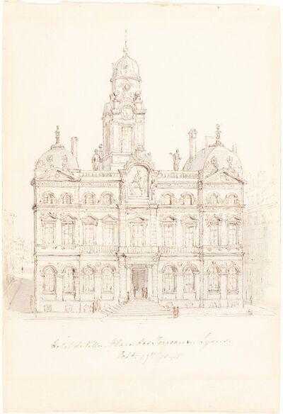 Robert Smirke, 'Hôtel de Ville, Place des Terreaux, Lyons', 1845