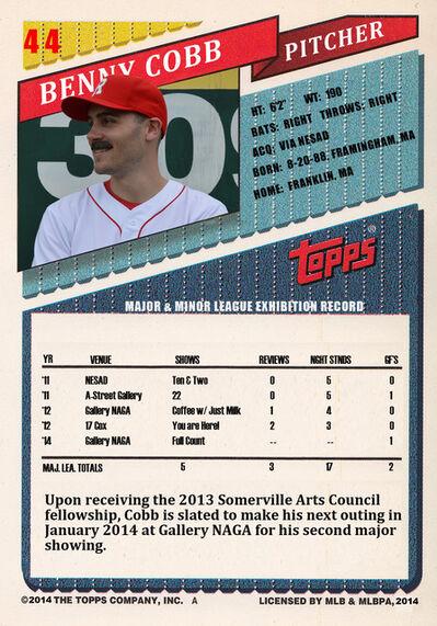 Benjamin Evans, 'baseball card', 2013