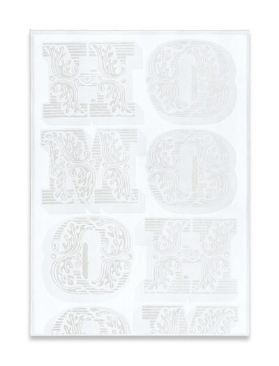 Megan Francis Sullivan, ''HOMO (white series) no. II', 2013