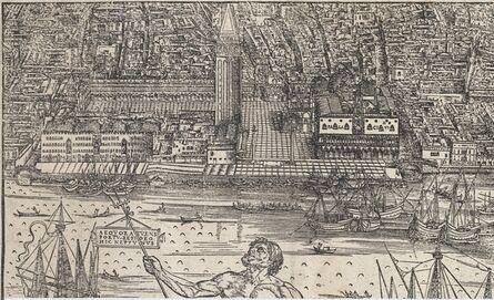Jacopo de' Barbari, 'View of Venice [lower center block]', 1500