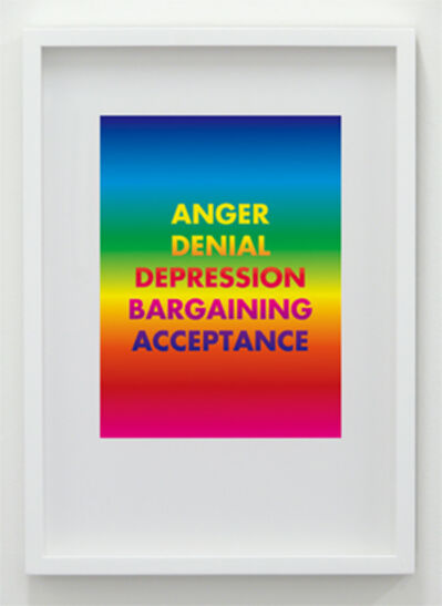 David McDiarmid, 'Anger Denial Depression Bargaining Acceptance', 1994 / 2012