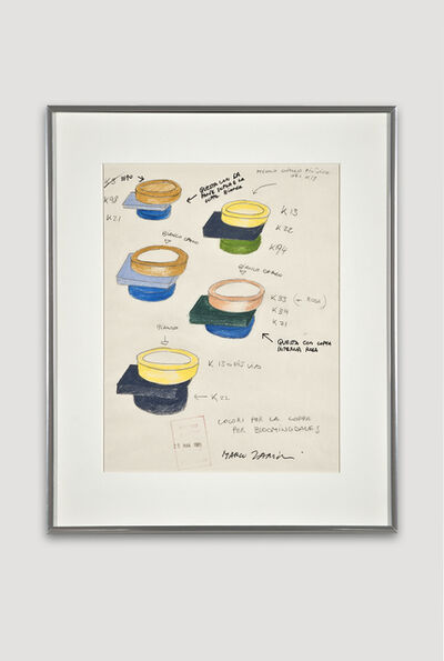 Marco Zanini, 'Presentation Drawing of Broccoli Bowl for Bloomingdale's', 1985