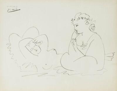 Pablo Picasso, 'Les Deux Femmes, Deuxième état', 1956