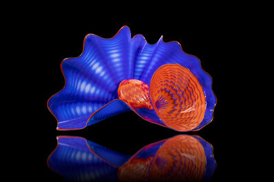 Dale Chihuly, 'Dale Chihuly Signed Lapis Persian Pair  Handblown Contemporary Glass Sculpture', 2006