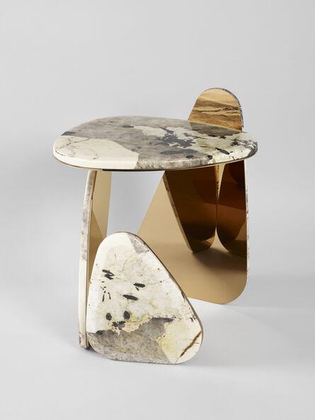 Studio MVW, ''JinYe' Side Table #1 including Patagonia Quartzite', 2019