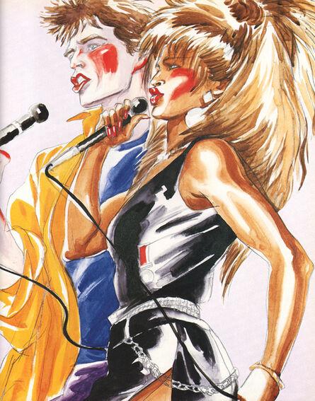 Antonio Lopez, 'Tina Turner and Mick Jagger ', 1986