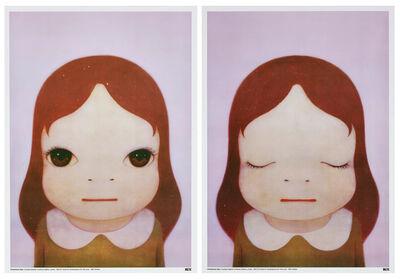Yoshitomo Nara, 'Cosmic Girls: Eyes Opened / Eyes Closed', 2008