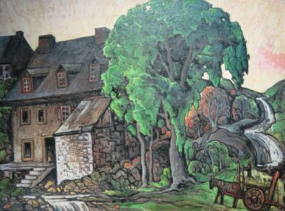 Marc-Aurèle Fortin, 'Moulin à l'Île d'Orléans ', ca. 1941