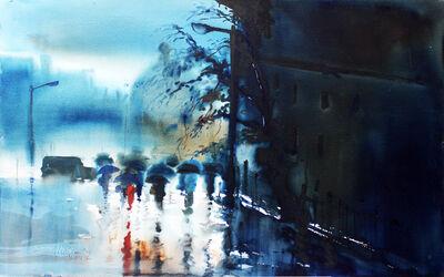 Paresh Maity, 'Rain in London', 2001