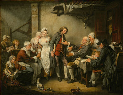 Jean-Baptiste Greuze, 'The Marriage Contract', 1761