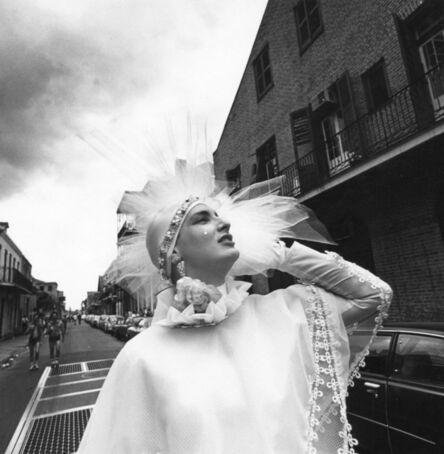 Meryl Meisler, 'White Beauty Mark, Hat, Rose and Dress, Mardi Gras, New Orleans', 1977