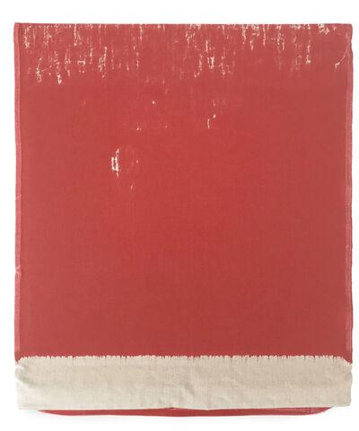 Analía Saban, 'Pressed Paint (Cadmium Red)', 2017